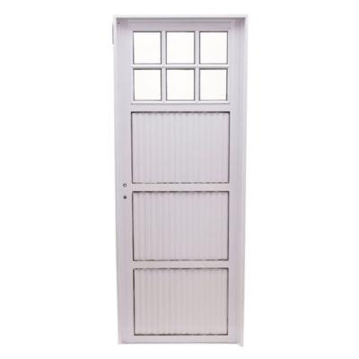 Puerta de aluminio frente 1/4 vidrio 80 x 200 c...