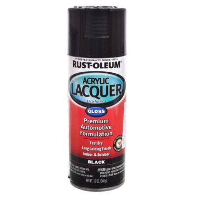 Esmalte en aerosol automotive laca acrílica negro brillante 340 g