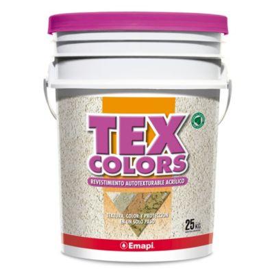Revestimientos texturado colors athenas blanco 25 kg