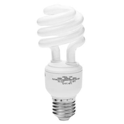 Lámpara bajo consumo helicoidal 14w t3 fría E27