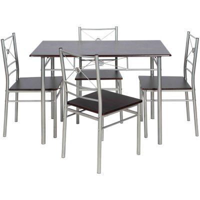 Juego de comedor Brasilia mesa + 4 sillas natural