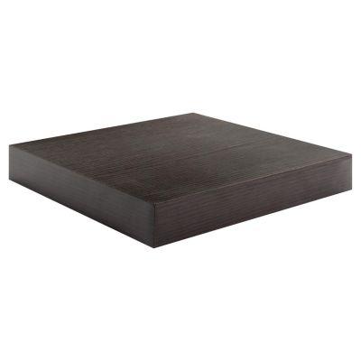 Estante de melamina flotante marrón 26 x 25 x 3,8 cm