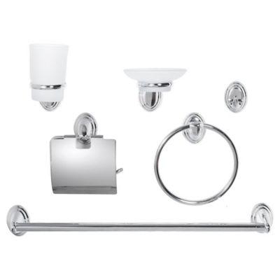 Kit de accesorios de baño x 6 piezas de acero inoxidable