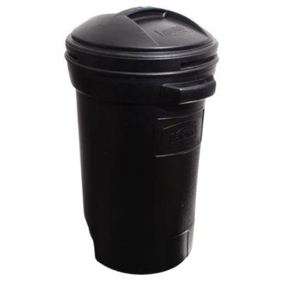 Cesto de basura plástico con ruedas 75 l negro
