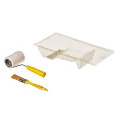 Kit pincel + mini bandeja + mini rodillo 708