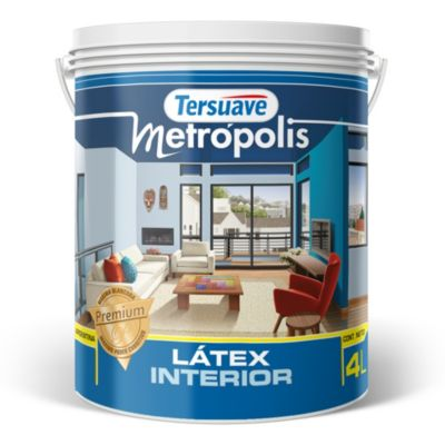 Pintura látex interior mate premium Metrópolis blanco 4 L