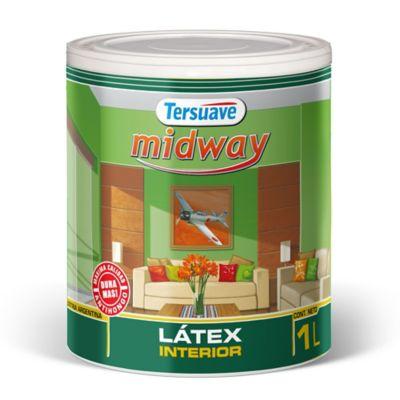 Pintura látex interior mate Midway blanco 1 L