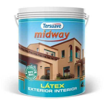 Pintura látex interior y exterior mate Midway blanco 4 L