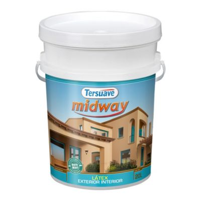 Pintura látex interior y exterior mate Midway blanco 20 L