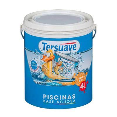 Pintura para piletas al agua mate blanco 4 l