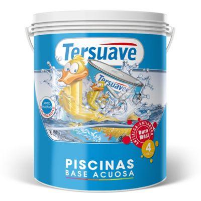 Pintura al agua para piletas mate azul 4 l