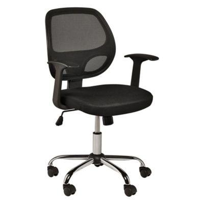 Silla de oficina ejecutiva negra asenti 1852841 for Sillas de escritorio sodimac