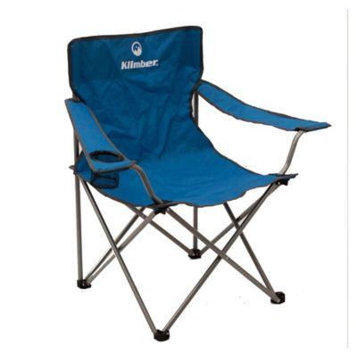 Silla de camping con apoya brazo azul