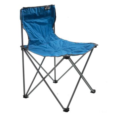 Silla plegable para camping azúl