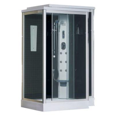 Cabina de ducha 120 x 90 cm con hidromasaje musical
