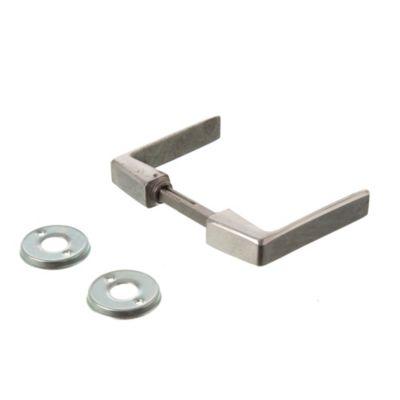 Manija biselada doble balancín aluminio pulido