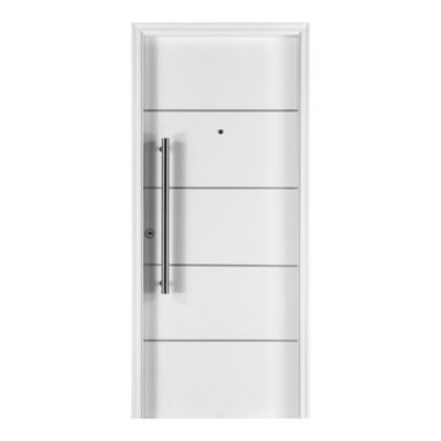 Puerta de chapa simple 80 x 205 x 20 cm derecha