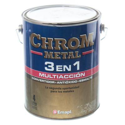 Esmalte chrom metal 3 en 1 blanco 4 L