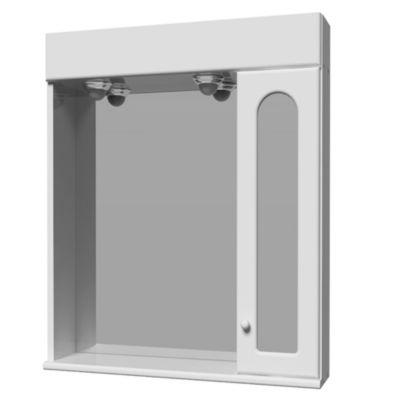 Botiquín para baño con espejo, luz y armario 78 x 60 cm