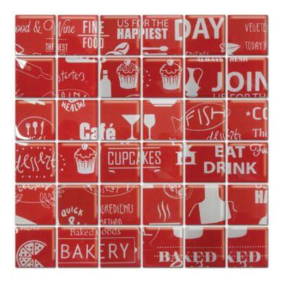 Malla 30 x 30 cm food rojo