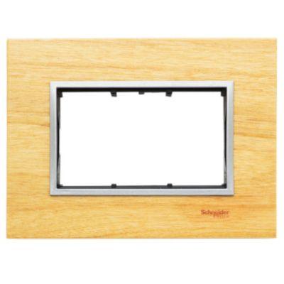 Frente + bastidor madera 3 módulos guatambú