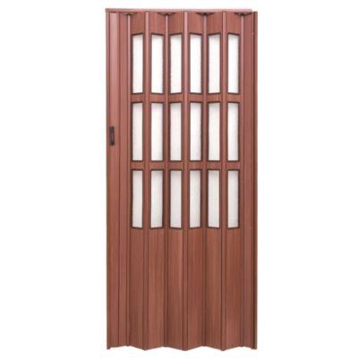 Puerta plegable cedro con vidrio 75 x 200 cm de...