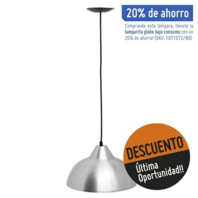 Lámpara de techo colgante 30 cm una luz aluminio e27