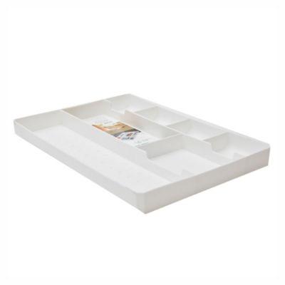Caja plástica organizadora con cajón blanco