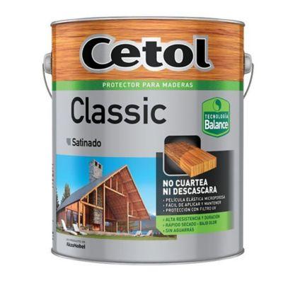 Protector para madera classic satinado natural 4 l