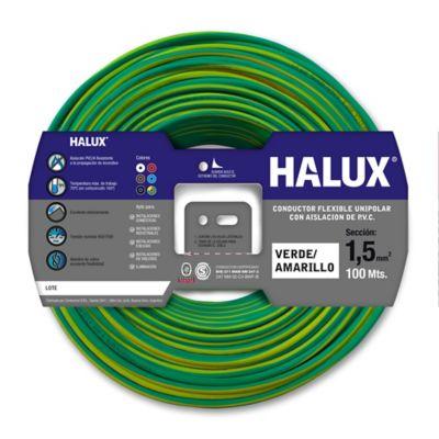 Cable unipolar 1.5 mm2 verde y amarillo 100 m
