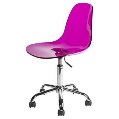 Silla de oficina operativa violeta