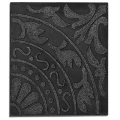 Baldosón flor de liz negra y negra 40 x 40 cm