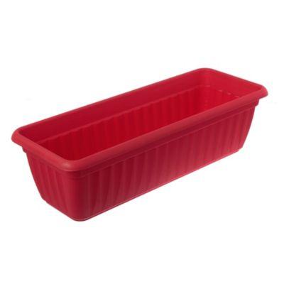 Maceta jardinera de plástico roja