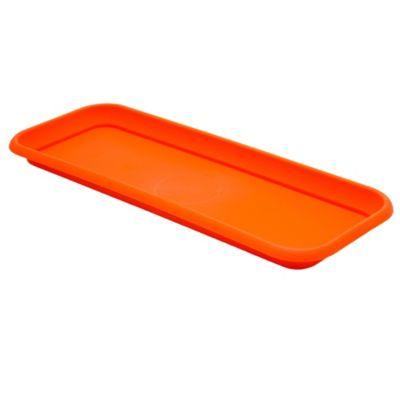 Plato para macetas de plástico naranja