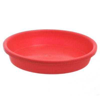 Plato para macetas de plástico rojo