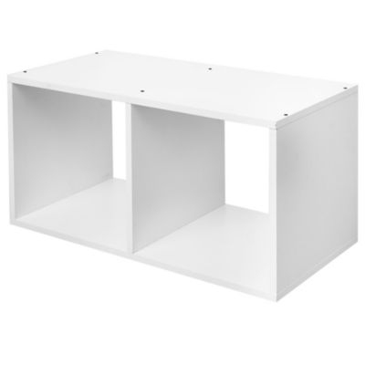 Estante de melamina cubo doble blanco 70 x 35 x 38 cm
