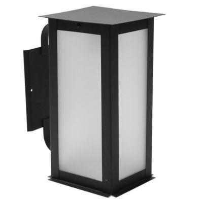 Farol de pared exterior 1 luz oriental con ménsula grande negro E27