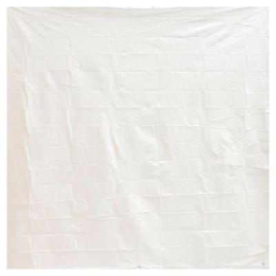 Protectores para cortina de baño de polietileno blanco