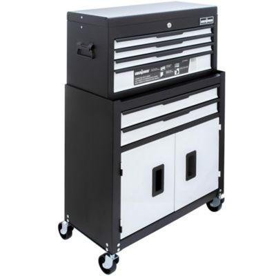 Carro de herramientas metálico con gabinete