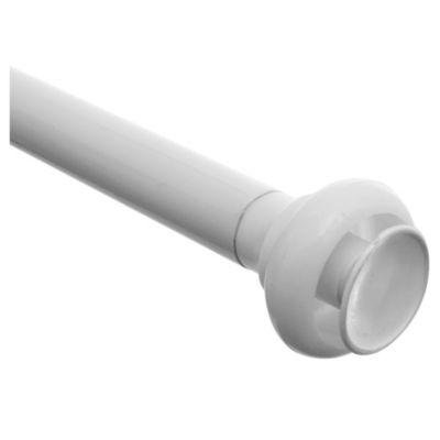 Barral para cortina de baño extensible de 150 a 240 cm blanco