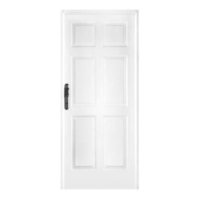 Puerta de chapa blanca doble 80 x 205 cm derecha