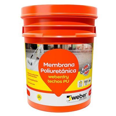 Membrana líquida impermeabilizante Ceresita para techos blanco 20 kg