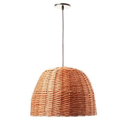 Lámpara de techo colgante una luz mimbre natural E27