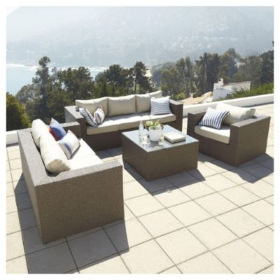 Juego de exterior San Lucas mesa + 3 sillones