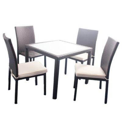 Juego de exterior Alicante mesa + 4 sillas