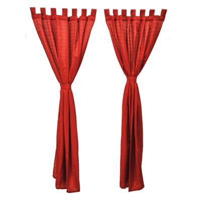 Set de cortinas madras de tela rojo 140 x 220 cm 6 piezas