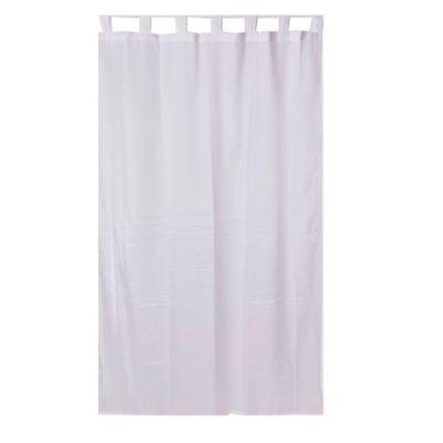 Cortina traslúcida pratto de tela blanco 140 x 220 cm