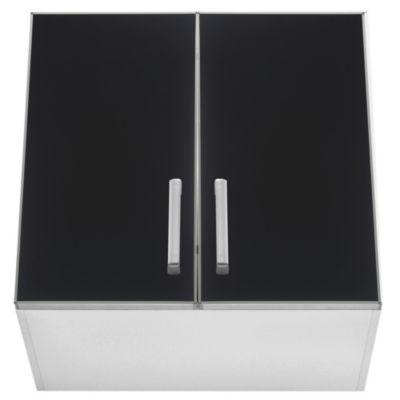 Alacena Lugano 60 x 62.5 cm negro aluminio