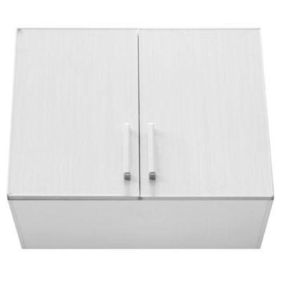 Alacena Lugano 80 x 62.5 cm roble blanco aluminio
