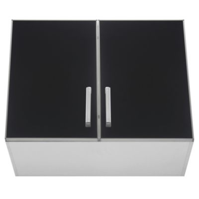 Alacena Lugano 80 x 62.5 cm negro aluminio